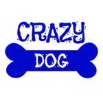 View Image 4 of Crazy Dog Shirt / Crazy Dog Mom Human Shirt - White with Blue Print