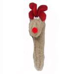 View Image 2 of Crinkle Cane Deer Dog Toy by West Paw - Oatmeal