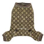 View Image 5 of Crown Dog Pajamas by Hip Doggie - Brown