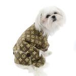 View Image 1 of Crown Dog Pajamas by Hip Doggie - Brown