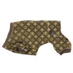 View Image 4 of Crown Dog Pajamas by Hip Doggie - Brown