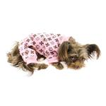 View Image 1 of Crown Dog Pajamas by Hip Doggie - Pink
