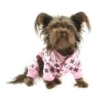 View Image 2 of Crown Dog Pajamas by Hip Doggie - Pink