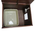 View Image 3 of Crown Cat Litter Cabinet - Espresso
