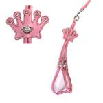 View Image 1 of Crown Step-In Dog Harness by Cha-Cha Couture - Matte Light Pink