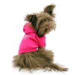 View Image 3 of Crowned Crossbones Dog Hoodie - Raspberry Sorbet