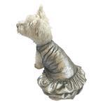 View Image 1 of Crushin' on YOU Metallic Velvet Dog Dress - Silver