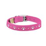 View Image 1 of Crystal Paws Dog Collar by Susan Lanci - Pink Sapphire