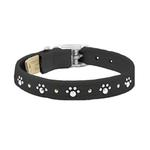 View Image 1 of Crystal Paws Dog Collar by Susan Lanci - Black