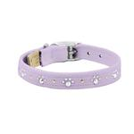 View Image 1 of Crystal Paws Dog Collar by Susan Lanci - French Lavender