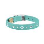 View Image 1 of Crystal Paws Dog Collar by Susan Lanci - Bimini Blue