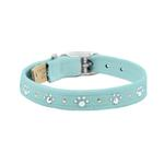 View Image 1 of Crystal Paws Dog Collar by Susan Lanci - Tiffi Blue