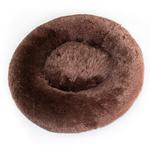 View Image 1 of Cuddle Shag Dog Bed by Hello Doggie - Chocolate