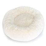 View Image 1 of Cuddle Shag Dog Bed by Hello Doggie - Cream
