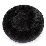 View Image 1 of Cuddle Shag Dog Bed by Hello Doggie - Black