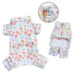 View Image 1 of Cupcakes Fanatics Flannel Dog Pajamas by Klippo