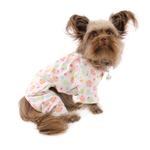 View Image 3 of Cupcakes Fanatics Flannel Dog Pajamas by Klippo