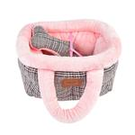 View Image 2 of Da Vinci Basket Dog Bed By Pinkaholic - Pink