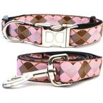 View Image 1 of Argyle Dog Collar and Leash Set by Diva Dog
