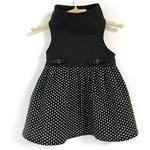 View Image 1 of Daisy and Lucy Black Top with Black and White Polka Dot Skirt Dog Dress