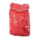 View Image 1 of Daisy and Lucy Love Print Red Slicker Dog Raincoat