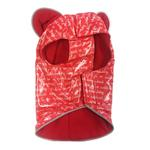 View Image 2 of Daisy and Lucy Love Print Red Slicker Dog Raincoat