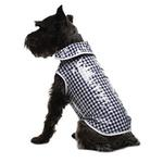 View Image 1 of Daisy and Lucy Navy Gingham Dog Coat