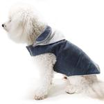 View Image 1 of Daisy and Lucy Waxed Winter Dog Coat - Navy