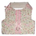 View Image 2 of Daisy Paws Checkered Dog Harness Vest with Leash by Cha-Cha Couture