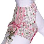 View Image 1 of Daisy Paws Checkered Dog Harness Vest with Leash by Cha-Cha Couture
