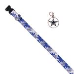 View Image 1 of Dallas Cowboys Team Camo Dog Collar and Tag by Yellow Dog