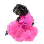 View Image 3 of Dark Pink Sequin Pet Dress by Pawpatu