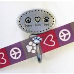 View Image 1 of Decorative Leash Hook - Peace Love Dog
