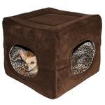 View Image 2 of Deluxe 2 Door Pop Up Dog Tent/Bed by Hip Doggie - Chocolate Brown