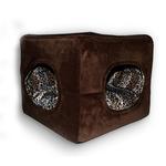 View Image 1 of Deluxe 2 Door Pop Up Dog Tent/Bed by Hip Doggie - Chocolate Brown