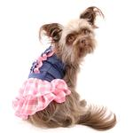 View Image 5 of Denim Chic Dog Dress by Dogo - Pink
