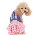 View Image 2 of Denim Chic Dog Dress by Dogo - Pink