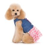 View Image 4 of Denim Chic Dog Dress by Dogo - Pink