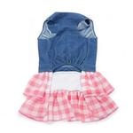 View Image 3 of Denim Chic Dog Dress by Dogo - Pink