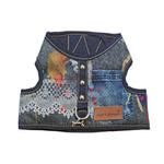 View Image 1 of Denim Lace Dog Harness Vest by Cloak & Dawggie