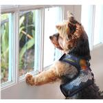 View Image 3 of Denim Lace Dog Harness Vest by Cloak & Dawggie