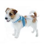 View Image 3 of Denim Scarf Tie Dog Harness Vest - Blue Bandana