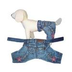 View Image 1 of Denim Stars Dog Pants