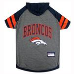 View Image 1 of Denver Broncos Hooded Dog T-Shirt