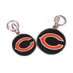 View Image 2 of Chicago Bears Team Camo Dog Collar and Tag by Yellow Dog