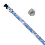 View Image 1 of Detroit Lions Team Camo Dog Collar and Tag by Yellow Dog