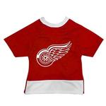 View Image 1 of Detroit Red Wings Mesh Dog Jersey - Red with White Trim