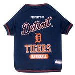 View Image 1 of Detroit Tigers Dog T-Shirt - Navy Blue