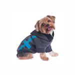 View Image 2 of Dexter Dog Hoodie - Gray & Blue