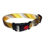 View Image 1 of Diagonal Stripes Dog Collar by Cha-Cha Couture - Yellow